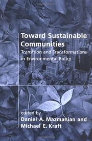 Cover of: Toward Sustainable Communities |