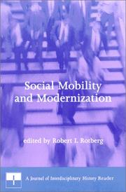 Cover of: Social Mobility and Modernization