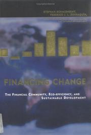 Cover of: Financing Change | Stephan Schmidheiny