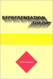 Cover of: Representation theory
