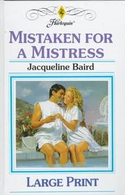Cover of: Mistaken for a Mistress | Jacqueline Baird