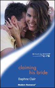 Cover of: Claiming His Bride