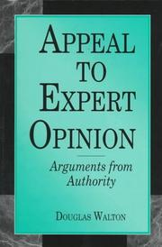 Cover of: Appeal to expert opinion