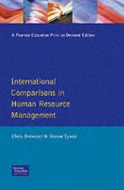 Cover of: International Comparisons in Human Resource Management | C. Brewster