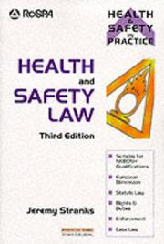 Cover of: Health and safety law