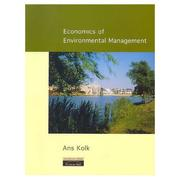 Cover of: Economics of environmental management