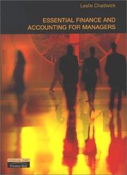 Cover of: Essential finance and accounting for managers