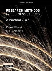 Cover of: Research Methods in Business Studies | Pervez Ghauri
