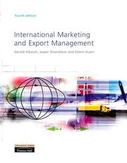 Cover of: International marketing and export management | Gerald S. Albaum