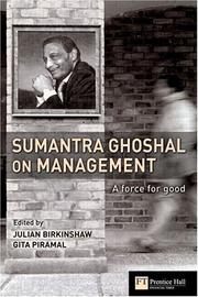 Cover of: Sumantra Ghoshal on management