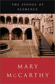 Cover of: The Stones of Florence | McCarthy, Mary
