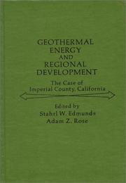 Cover of: Geothermal Energy and Regional Development
