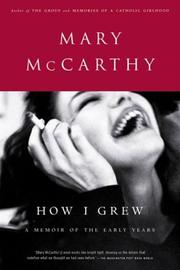 Cover of: How I Grew