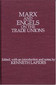 Cover of: Marx and Engels on the trade unions |