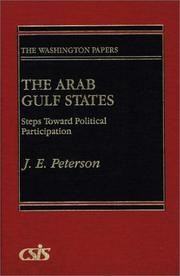 Cover of: The Arab Gulf states | Peterson, John