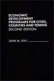 Cover of: Economic development programs for cities, counties, and towns