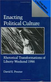 Enacting political culture by David E. Procter