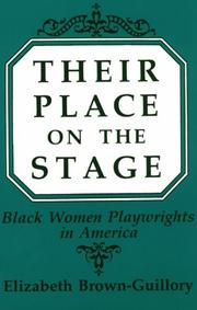 Cover of: Their place on the stage