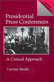 Cover of: Presidential press conferences