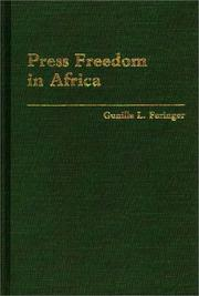 Cover of: Press freedom in Africa | Gunilla L. Faringer
