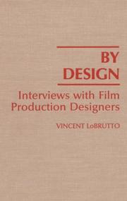 Cover of: By design: interviews with film production designers