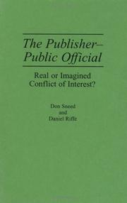 Cover of: The publisher-public official