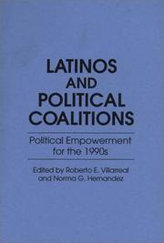 Cover of: Latinos and Political Coalitions |
