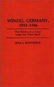 Cover of: Winzig, Germany, 1933-1946 | Rita S. Botwinick