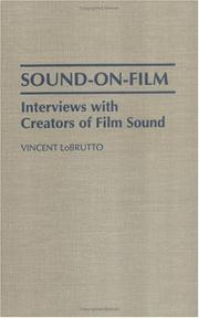 Cover of: Sound-on-film: interviews with creators of film sound