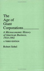 Cover of: The age of giant corporations