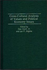 Cross-Cultural analysis of values and political economy issues