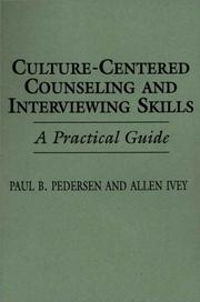 Cover of: Culture-centered counseling and interviewing skills