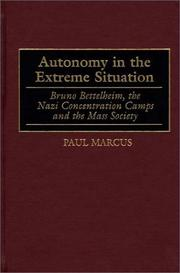 Autonomy in the extreme situation by Marcus, Paul