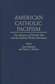 Cover of: American Catholic Pacifism |