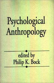 Cover of: Psychological Anthropology