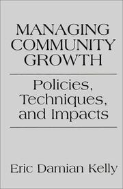 Cover of: Managing Community Growth