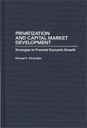 Cover of: Privatization and capital market development