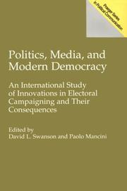 Cover of: Politics, media, and modern democracy