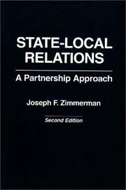 Cover of: State-local relations: a partnership approach