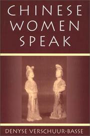 Cover of: Chinese women speak