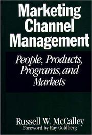 Cover of: Marketing channel management