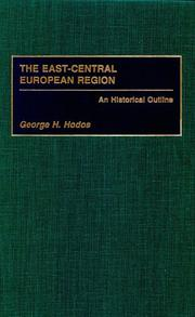 Cover of: The East-Central European region