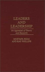 Cover of: Leaders and leadership