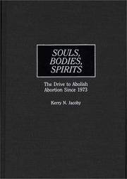 Cover of: Souls, bodies, spirits
