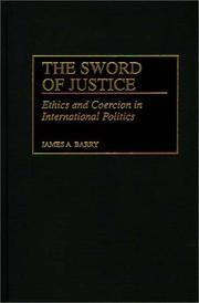 Cover of: The sword of justice | James A. Barry