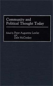 Cover of: Community and political thought today