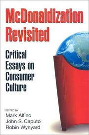 Cover of: McDonaldization revisited |