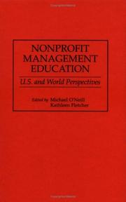 Cover of: Nonprofit management education |