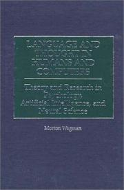 Cover of: Language and thought in humans and computers