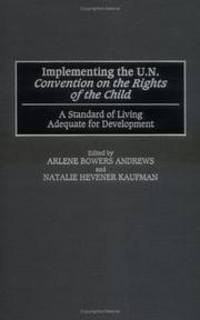 Cover of: Implementing the U.N. Convention on the Rights of the Child by